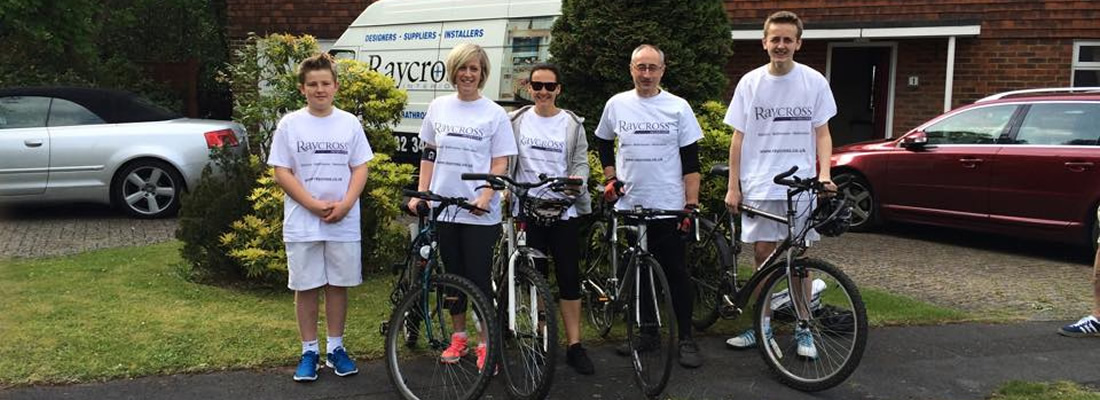 Team Raycross at the Woking Bikeathon