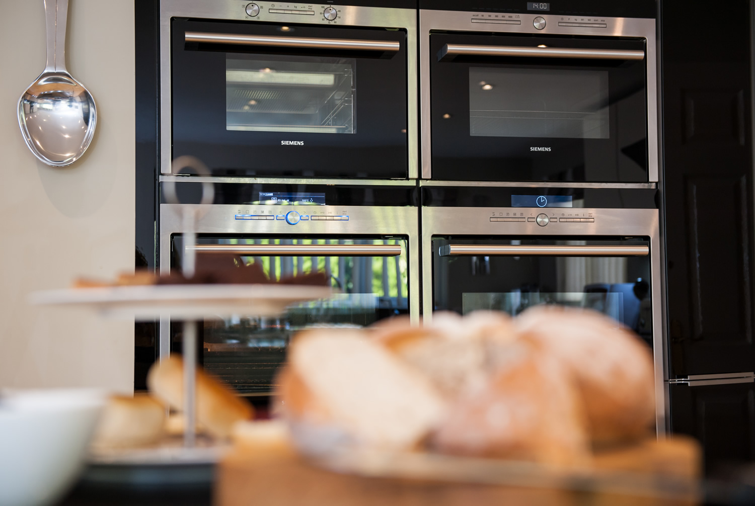 Wall of Ovens Kitchens Surrey