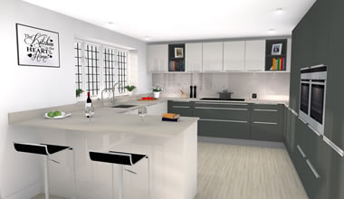 3D Visualisation - Kitchen Design